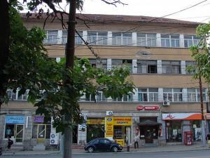 Сградата, от която е паднала отломката.