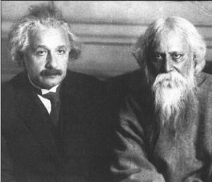 Рабиндранат Тагор (вдясно) с Алберт Айнщайн.