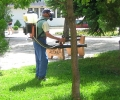 В Община Гълъбово извършиха предписаното от РЗИ пръскане срещу кърлежи