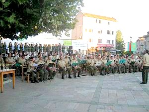 военния духов оркестър на 61 мбр