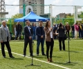 Кандидатите за евродепутати от листата на ГЕРБ Ева Паунова и Ангел Филипов откриха футболен турнир в Стара Загора