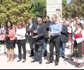 """Лидерите на ПП ГЕРБ прерязаха лентичката на обновения парк """"Розариум"""" в Казанлък"""