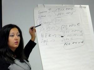 Лиляна Павлова анализира натрупаните задължения в българската енергетика по наброска с цифри, останала  от предишната среща на Бойко Борисов със старозагорски бизнесмени