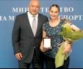 Петя Неделчева - с почетен плакет от министър Кралев за бронза в Баку