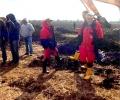 Екип на РИОСВ – Стара Загора извърши проверка в района на селата Ценино и Кортен община Нова Загора на мястото на спукания тръбопровод