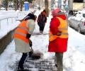 Близо 300 души чистят снега от пешеходните зони в Стара Загора