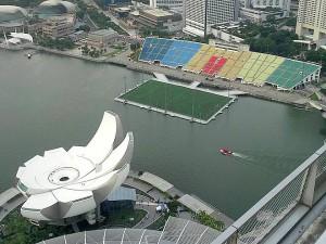 Футболно игрище във водата - Сингапур