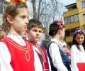 С народни носии и патриотични песни посрещнаха Трети март в СУ