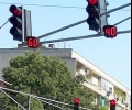 Неработещ светофар заради произшествие на пътя