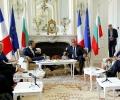 """Френският президент Макрон: Ще подкрепя премиера Борисов в усилията му България да бъде приета в """"чакалнята"""" на еврозоната"""