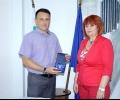 Почетен знак за ст.комисар Николай Кирков преди заминаването му от Стара Загора