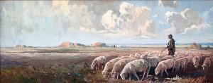 """Стадо овце"", около 1940, Васил Маринов"