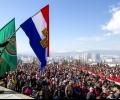 Първообразът на националния флаг поведе шествието с 300-метровото знаме в Стара Загора