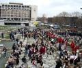 Над 800 кукери раздрънкаха мощно хлопки из Стара Загора