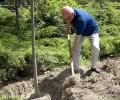 Васил Банов посади дръвче в Алеята на липите