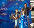 """Старозагорци спечелиха билети за мачове на """"лъвовете"""" и се снимаха със Световната купа по волейбол"""