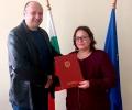 Главният прокурор награди Десислава Калайджиева, прокурор от Районна прокуратура - Стара Загора, за висок професионализъм