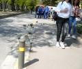 Джип БМВ катастрофира пред детска градина в Стара Загора, водачът избяга от местопроизшествието