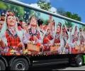 Показват камиони, украсени с фотоси от Казанлък