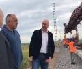 Премиерът Борисов инспектира строежа на жп-отсечката София-Елин Пелин