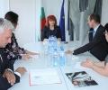 Областният управител Гергана Микова се срещна с регионалния мениждър на ЕВН България Робърт Дик