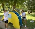 Доброволци освежиха пространството около езерото на Старозагорските бани