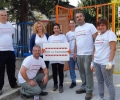 Доброволци от EVN - Пловдив боядисаха с родители старозагорска детска градина
