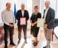 EVN Трейдинг връчи зелен сертификат на Рейл Карго Кериър България ЕООД