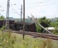 Вагон от товарен влак дерайлира на гара Калояновец