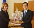 Кметът Галина Стоянова посрещна японския посланик в Казанлък